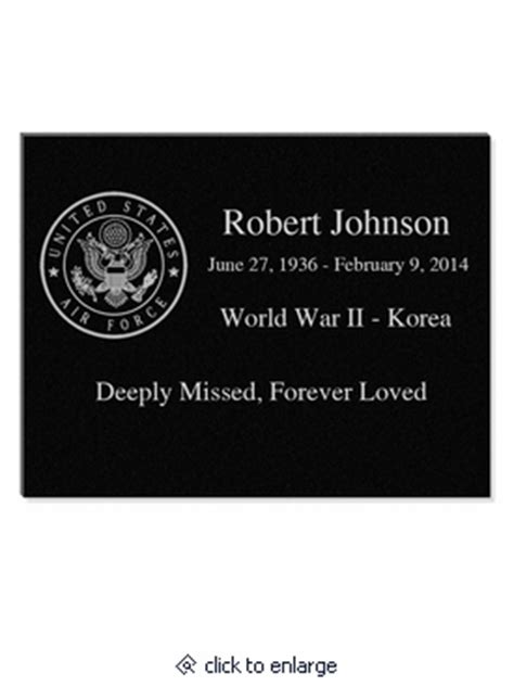 and veteran engraved plaque granite memorial 11x8 5