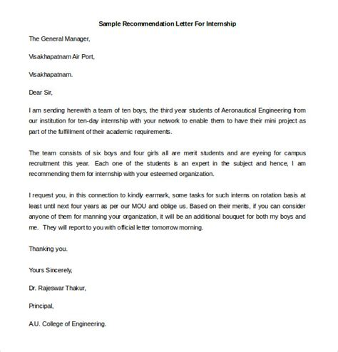 21 recommendation letter templates free sle exle