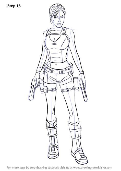 learn   draw lara croft characters step  step