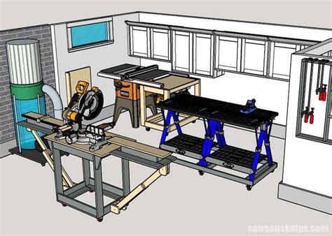 small woodshop layout space saving ideas shop