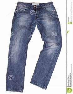Blue Jeans Isolated On White Background Stock Photo - Image 43294939