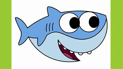 Shark Drawing Drawings Draw Easy Simple Clipart