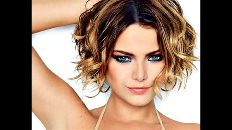 Short Hairstyles For Wavy Hair Youtube