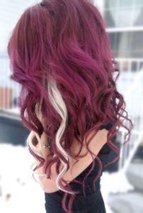 burgundy hair colors  styles