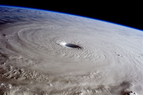 what is a hurricane l typhoon maysak from the international space station