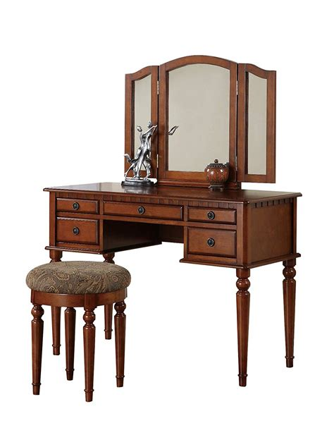 makeup vanity set walnut make up vanity table sets 200 s place