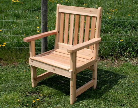 Outdoor Deck Chairs by Cedar Garden Patio Chair