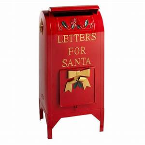 25 letters for santa red metal mailbox decor With letters to santa mailbox green