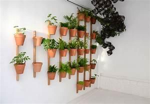 Pot De Fleur Interieur Design : support mural xpot pour 2 pots de fleurs ou tag res h ~ Premium-room.com Idées de Décoration