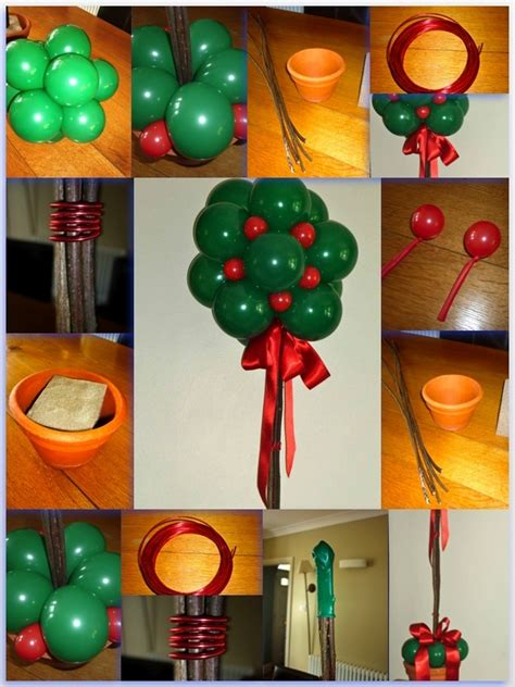 christmas balloon decorations images  pinterest