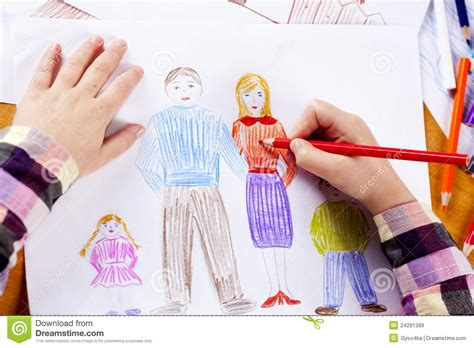 childs hand drawing stock image image  form note