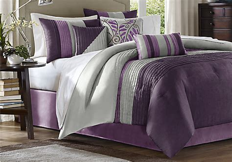 brenna purple 7 pc king comforter set king linens red