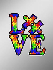 Love Autism Puzzle Piece