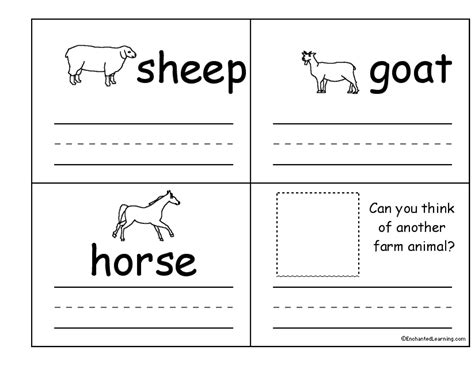 worksheet farm animals kindergarten farm animals for