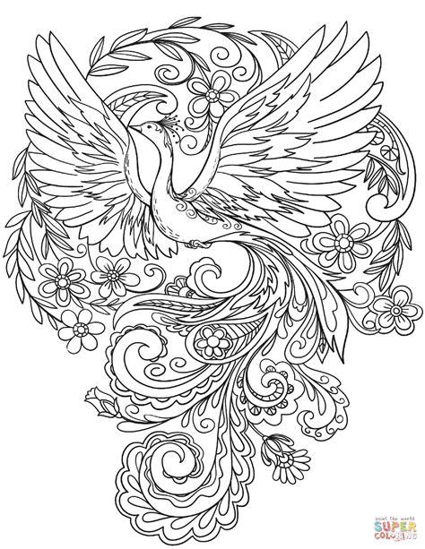 Kleurplaat Flower by Peacock In Flowers Coloring Page Free Printable Coloring