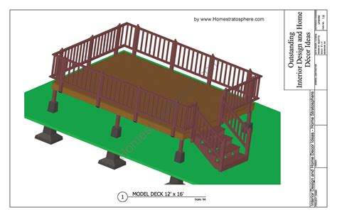 12x16 raised deck plans free deck plans and blueprints with pdf downloads
