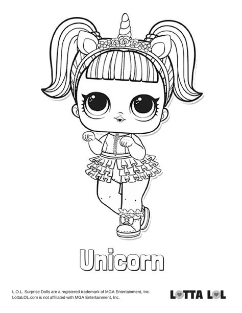 unicorn coloring page lotta lol unicorn coloring pages