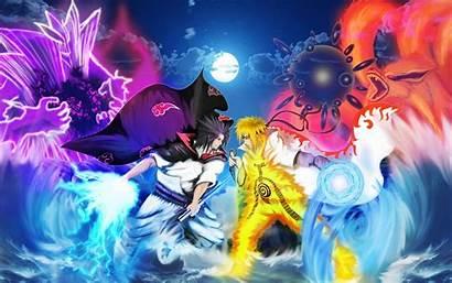 Naruto Sasuke Wallpapers Cool Shippuden Anime Battle