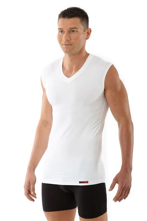 arm herren herren unterhemd v ausschnitt ohne arm quot stuttgart quot weiss albert kreuz