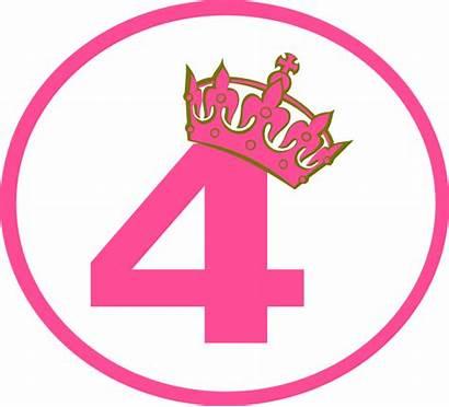 Clipart Number Clip Tiara Tilted Birthday Princess