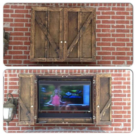 outdoor tv cabinets with doors our new custom outdoor tv cabinet ideas for patio