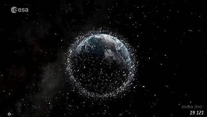 Space Earth Debris Junk Orbiting Trash Satellites
