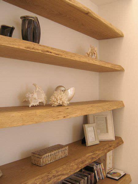 libreria legno grezzo mensole libreria muro tavole di recupero in rovere casa