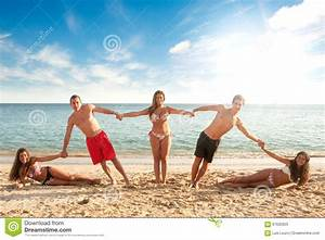 Summer Friends Stock Photo - Image: 67632925