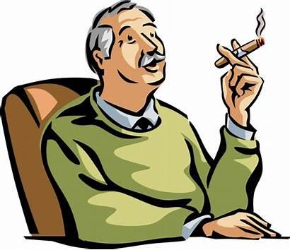 Citizen Smoking Senior Clipart Retired Vector Cigar