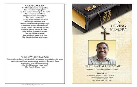 bible memories funeral program template elegant memorials