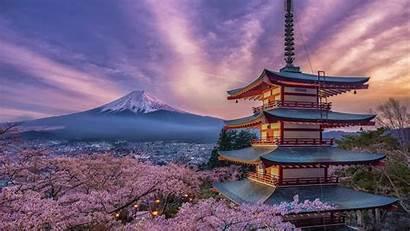 Japan 4k Wallpapers 8k Pagoda Fuji Sakura