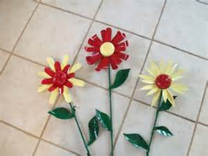 Flowers Made From Tin Cans
