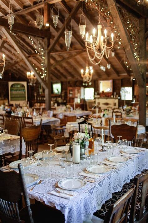 barn wedding reception table decoration ideas deer