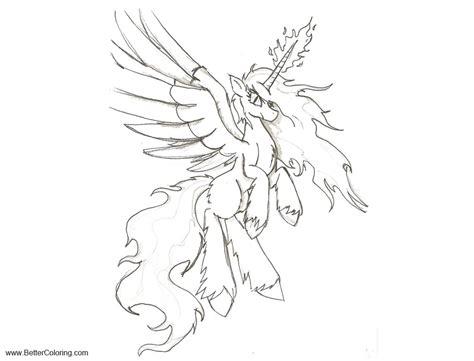unity alicorn coloring pages sketch  zubias