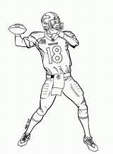 Coloring Broncos Denver Printable Pages Popular sketch template