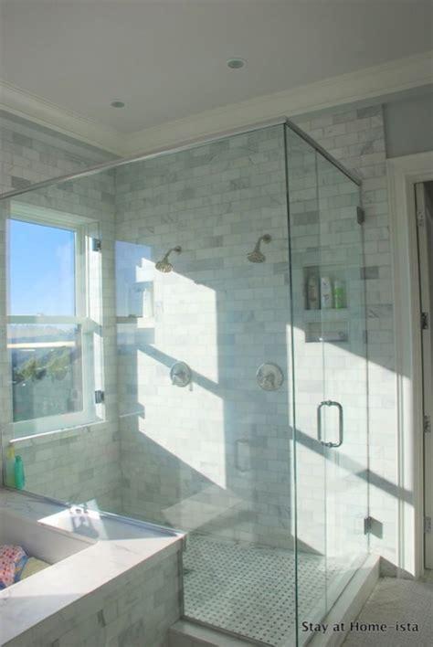 shower window transitional bathroom stay  homeista