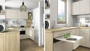 ordinaire amenager une petite cuisine en longueur 13 10 With cuisine petite et fonctionnelle