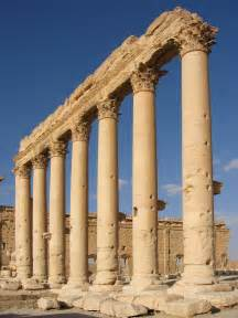bã romã bel designer file columns in the inner court of the bel temple palmyra syria jpg