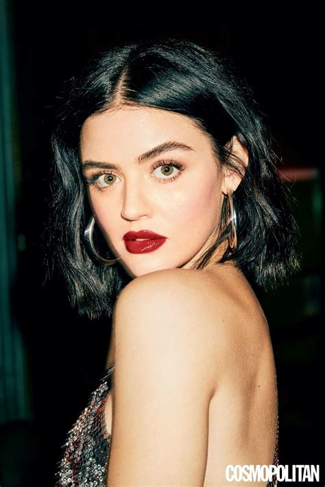 Lucy Hale captured by Ben Watts for Cosmopolitan March ...