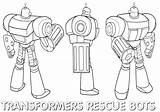 Rescue Coloring Bots Rescuebots sketch template