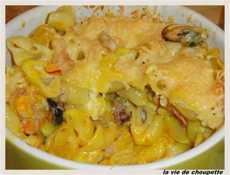 recette pate fruit de mer vin blanc gratin de pates aux fruits de mer paperblog