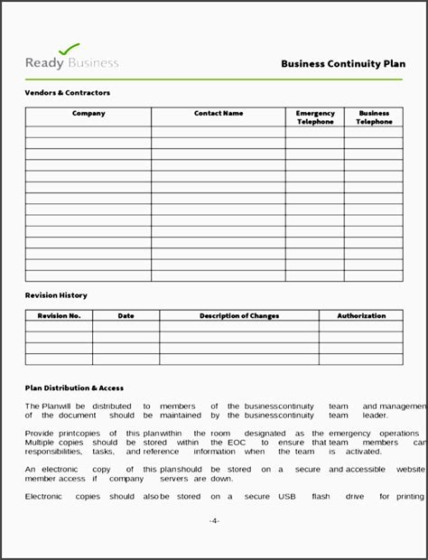 Basic Business Plan Template by 10 Business Continuity Plan Sle Sletemplatess
