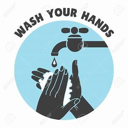 Washing Hands Wash Hand Symbol Vector Clip