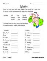 syllable worksheets teaching
