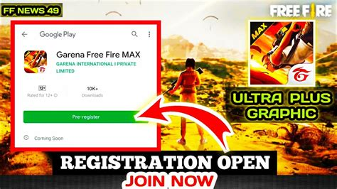 FREE FIRE MAX PRE REGISTRATION OPEN - JOIN NOW   FREE FIRE ...
