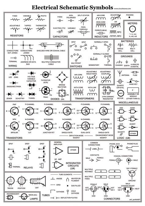 Electrical Schematic Symbols Skinsquiggles