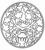 Medieval Pattern Coloring Pages Printable Designs Patterns Colouring Sheets Mandala Adult Printables Printactivities Embroidery Adults Coloringpages Appear Printed Hand Flower sketch template