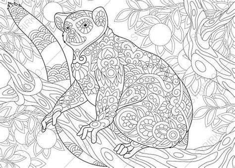 madagascar lemur  coloring pages animal coloring book