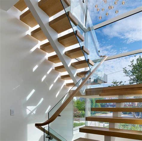 china single straight flight stair modern exterior straight staircase china wood glass railing