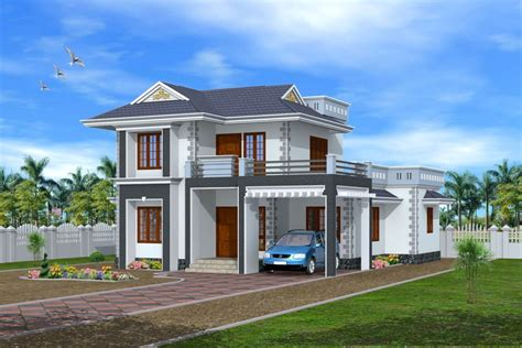 Home Design Free :  D Exterior Design Kerala House 3d Home Design